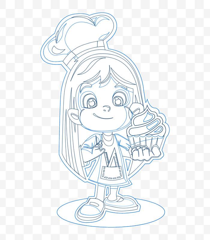 Ilustração de mascote para empresas