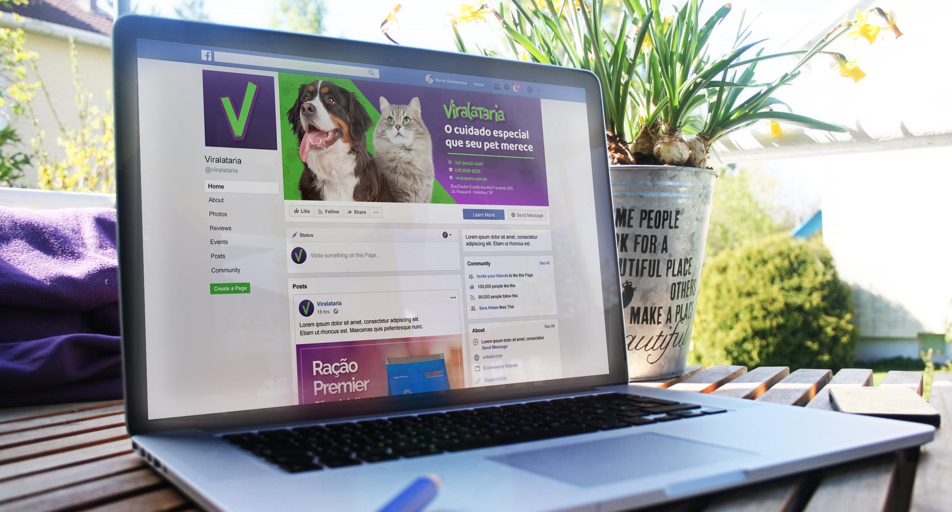 Personalização de redes sociais para Pet Shop